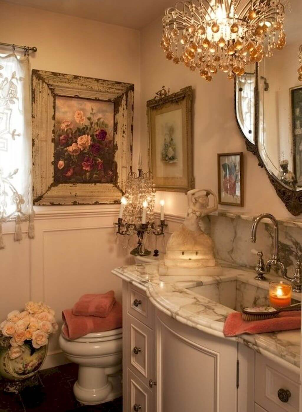 25 Stunning Shabby Chic Bathroom Designs That Will Adore You - 09559Cef13069130C26B6Be293Be80E1