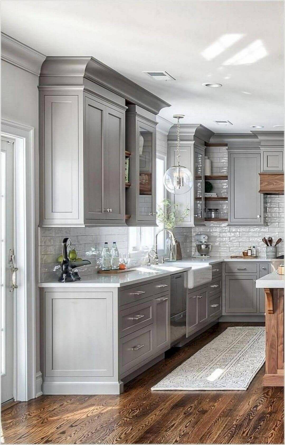 25 Bewildering Farmhouse Kitchen Designs (Traditional Beauties!) - 1B9Ef8210C8Ab9Fb6C2A19D351D4Aa13