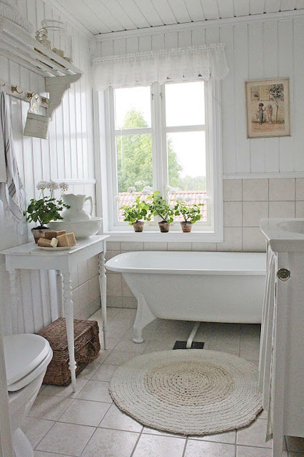 25 Stunning Shabby Chic Bathroom Designs That Will Adore You - 2864F93Cb15E84808B4F71F363266054