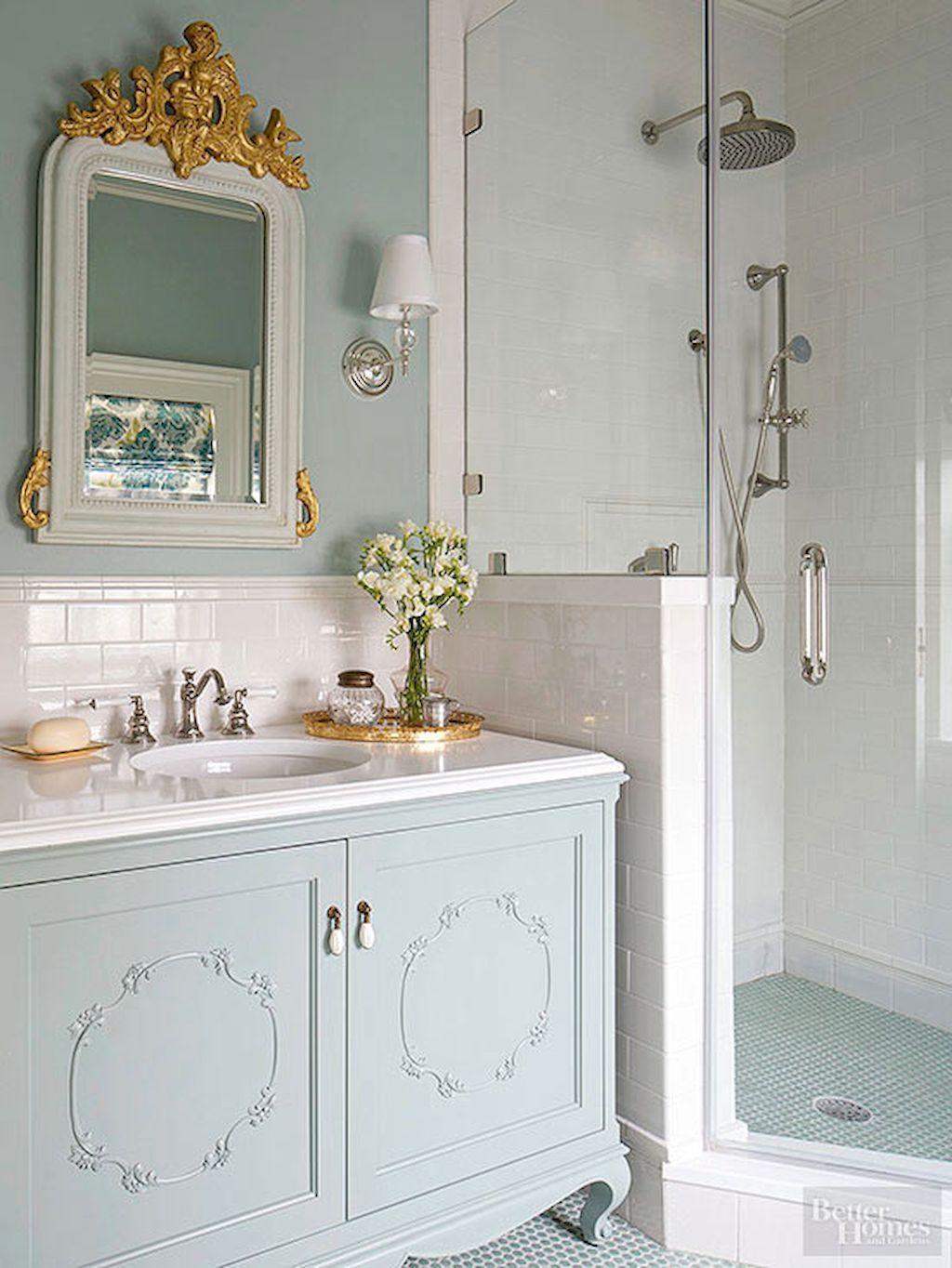25 Stunning Shabby Chic Bathroom Designs That Will Adore You - 2A28B2F17549E3Eebf3E300Cad4Dabaa