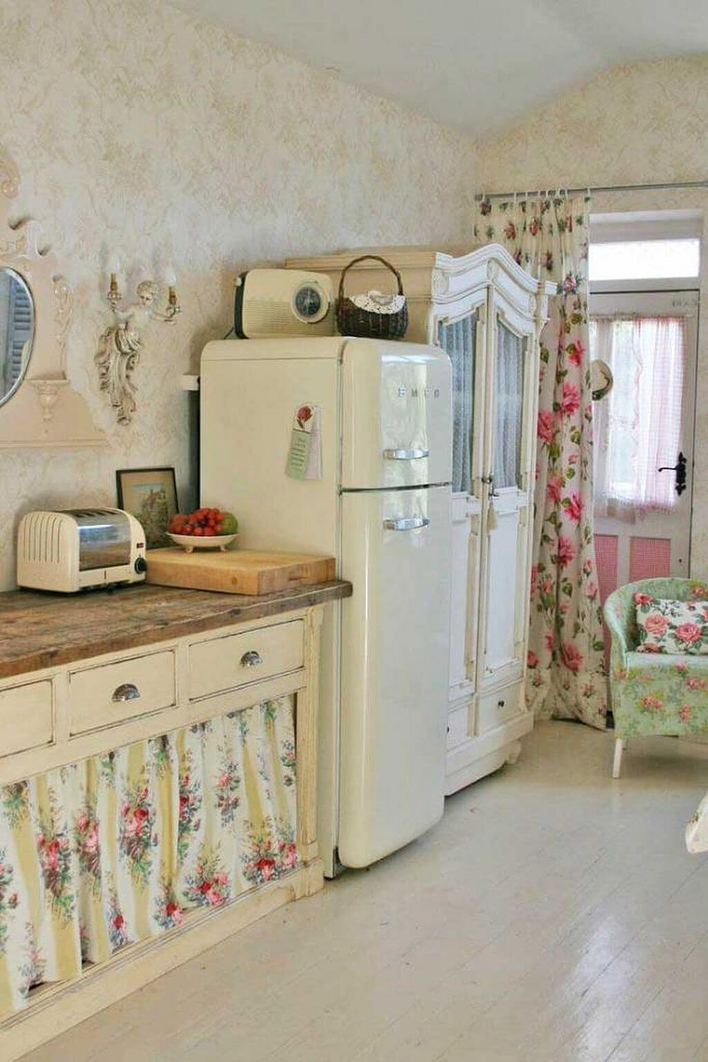 25 Lovely Shabby Chic Kitchen Ideas (Striking Rooms For Cooking) - 2B0Acb98914B74611D5Bffa95Ada3880
