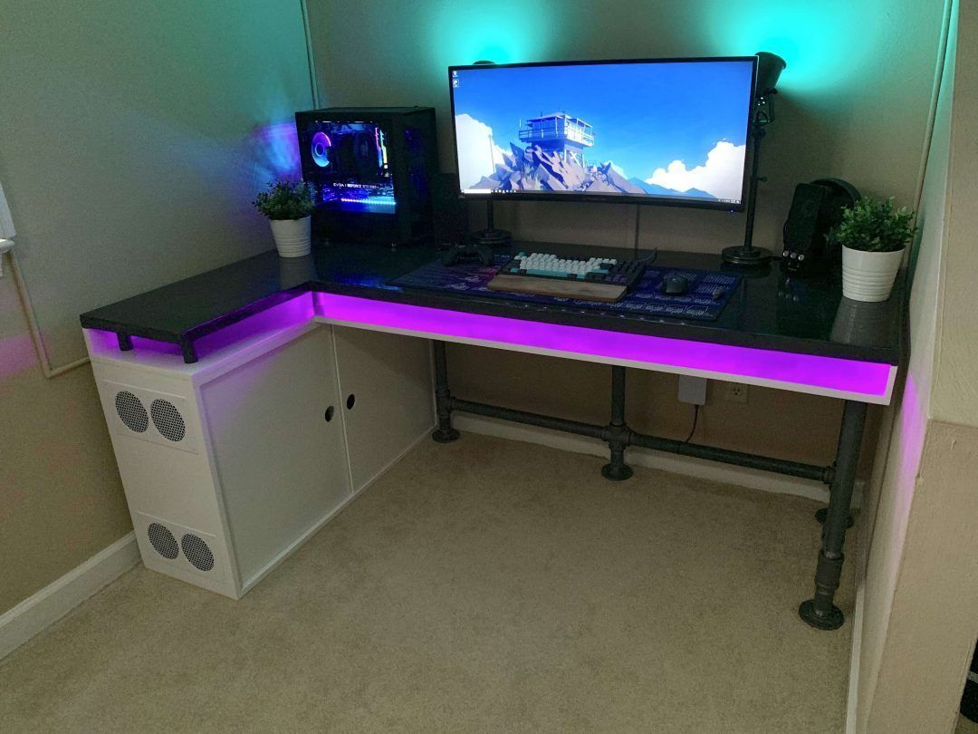 11 Diy Gaming Desk Ideas That Are Easy To Make Home Junkee
