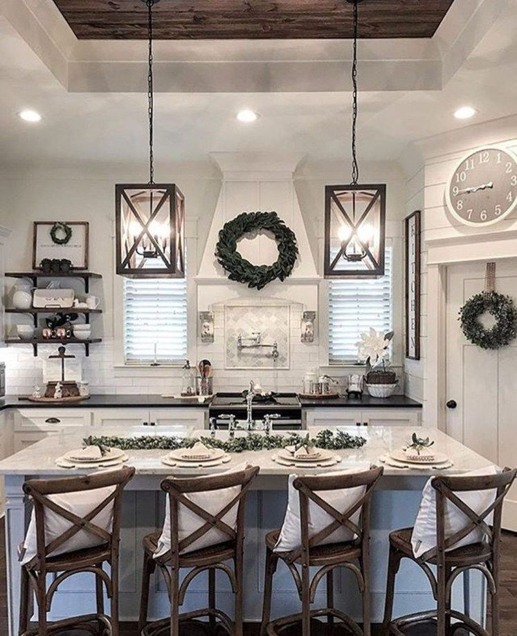 25 Bewildering Farmhouse Kitchen Designs (Traditional Beauties!) - 39E530Ef0D16F187C2176Ee4F002A11D