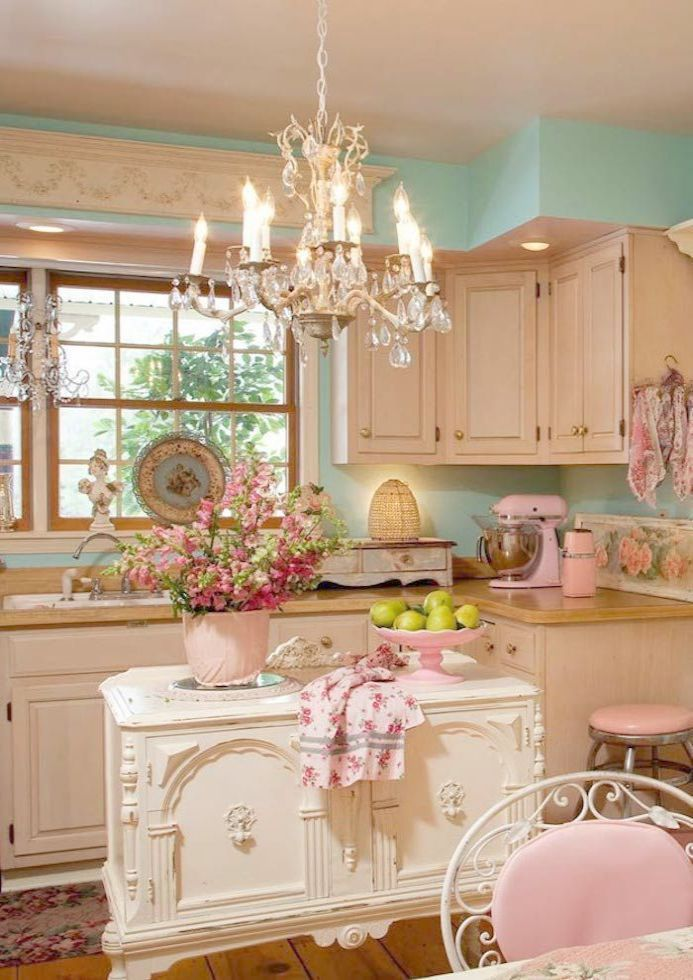 25 Lovely Shabby Chic Kitchen Ideas (Striking Rooms For Cooking) - 3A101Dd834D74445B62Feab6F91544A0
