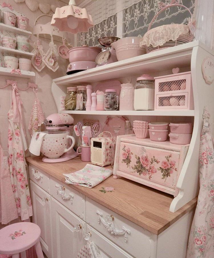 25 Lovely Shabby Chic Kitchen Ideas (Striking Rooms For Cooking) - 3Ee69F07C082D4C1F3191E3D23Aae4Ec