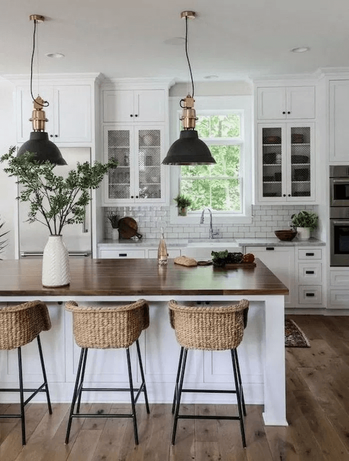 25 Bewildering Farmhouse Kitchen Designs (Traditional Beauties!) - 4Ac3Ad93Cbdb5A28Ae447Bd414492Fc5