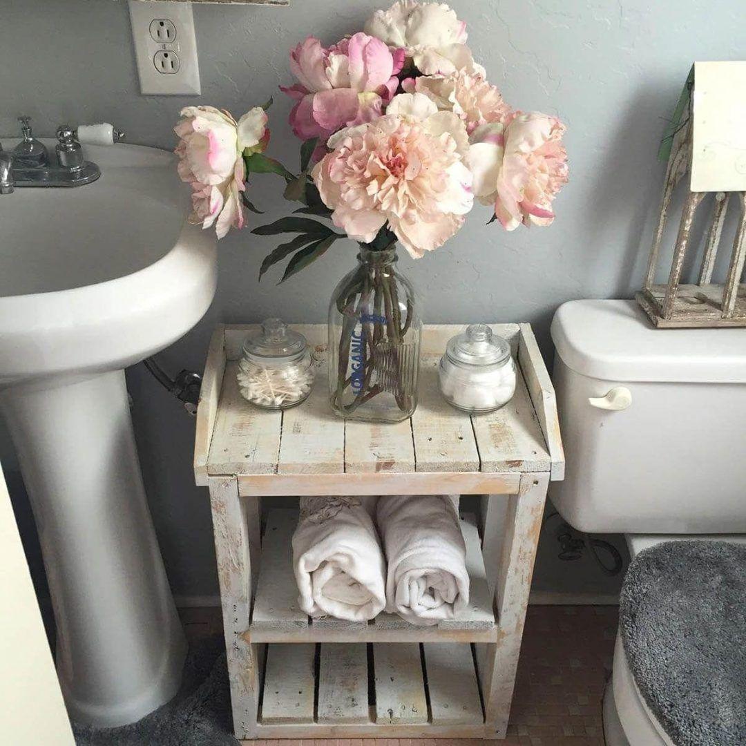 25 Stunning Shabby Chic Bathroom Designs That Will Adore You - 557B12310232Fc726Da2Fdd2F2C2C77C