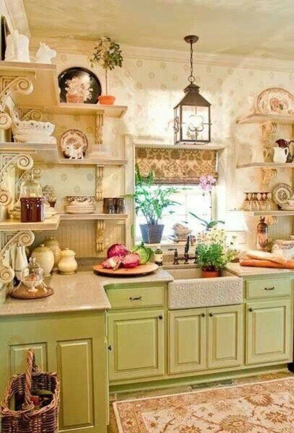 25 Lovely Shabby Chic Kitchen Ideas (Striking Rooms For Cooking) - 6173073Ab25B707D2759Cef1F4153824