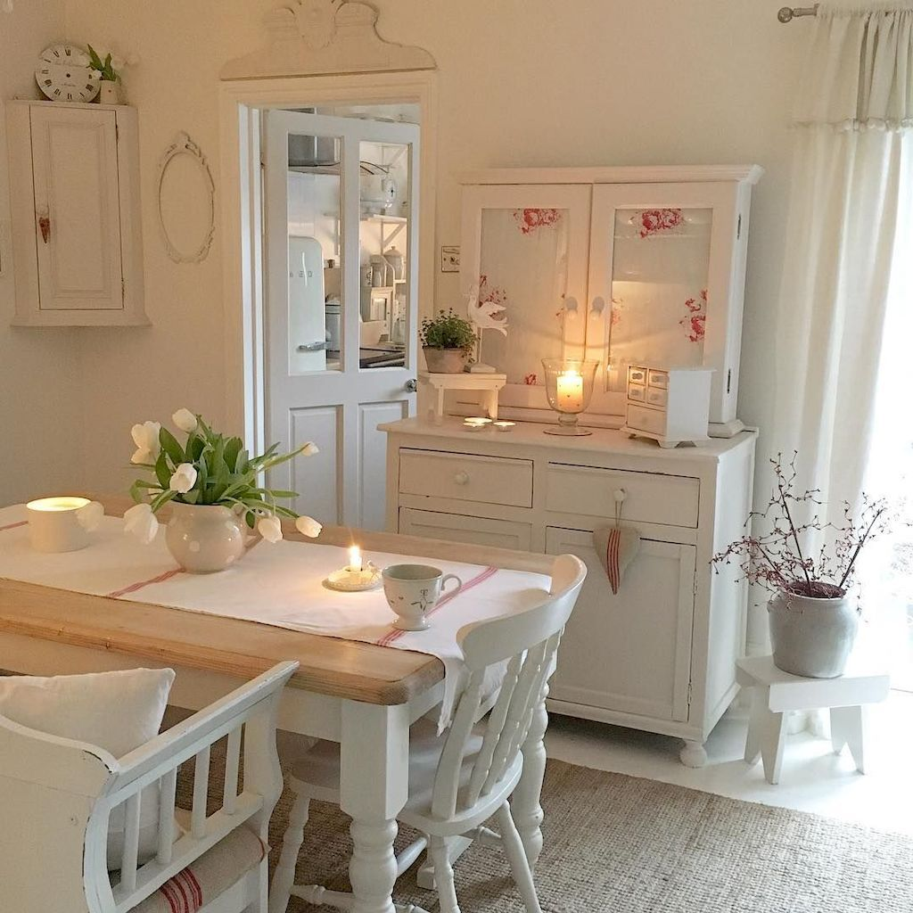25 Lovely Shabby Chic Kitchen Ideas (Striking Rooms For Cooking) - 62Bcb5B6B3209F42D3251E7Efbf38F25