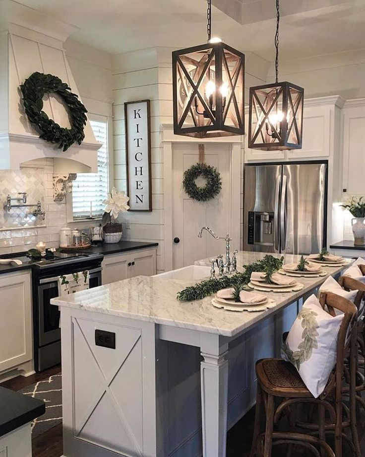 25 Bewildering Farmhouse Kitchen Designs (Traditional Beauties!) - 659De28C8Fe68B0E81F57F21A73760E0