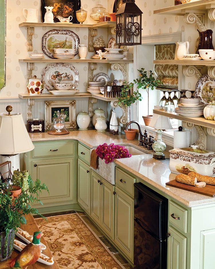 25 Lovely Shabby Chic Kitchen Ideas (Striking Rooms For Cooking) - 6B1Eeea0De66F5Ead2Ade61Db81718E4