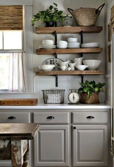 25 Stress-Free Rustic Kitchen Ideas (All Are Marvellous!) - 6C33B3849E03Fa9B5A33A379Dfb53E44