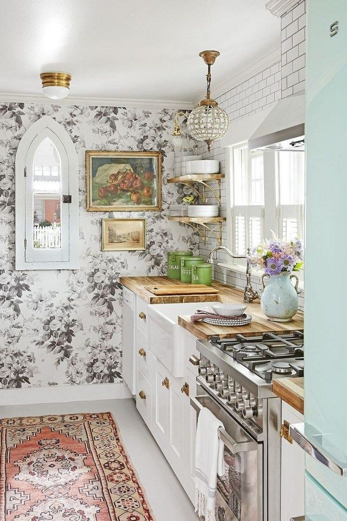25 Lovely Shabby Chic Kitchen Ideas (Striking Rooms For Cooking) - 7E76Acaec535Bca1Beaa4866F0516A14