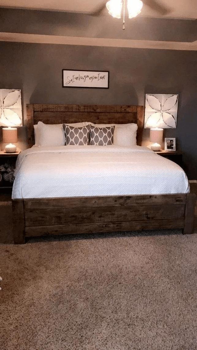 25 Inviting And Cozy Farmhouse Bedroom (The Visual Treats) - A2