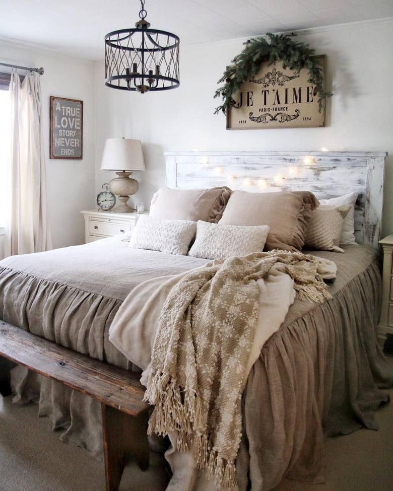 25 Inviting And Cozy Farmhouse Bedroom (The Visual Treats) - A24