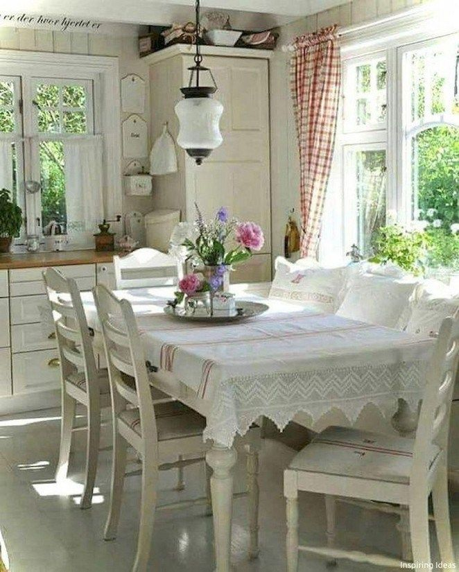 25 Lovely Shabby Chic Kitchen Ideas (Striking Rooms For Cooking) - Afe764126C9E5261D2Aee9Af4665A5F8