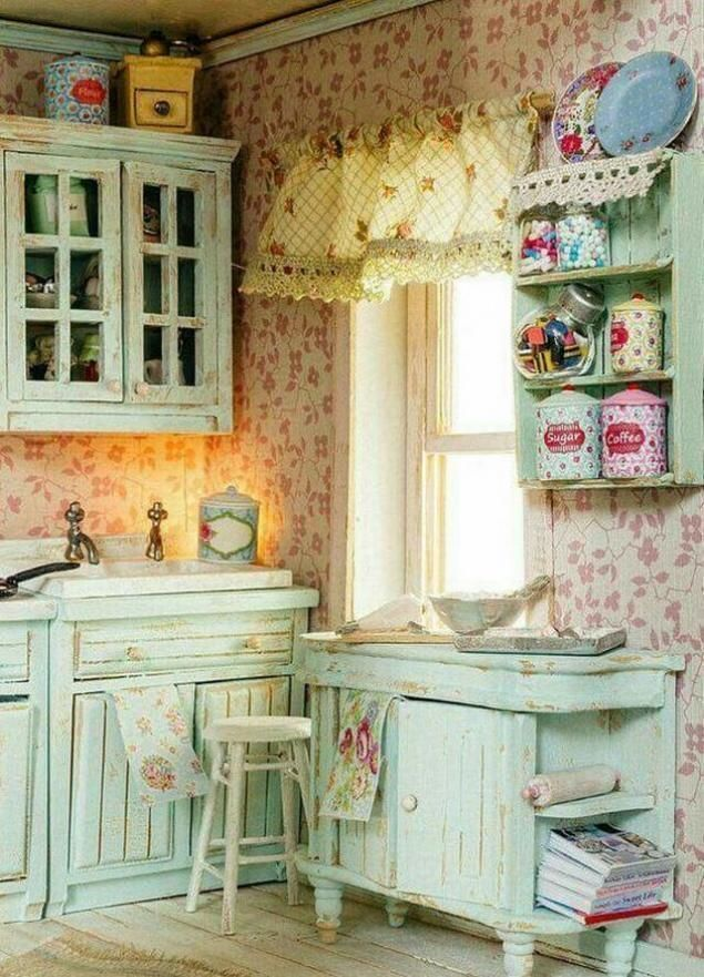 25 Lovely Shabby Chic Kitchen Ideas (Striking Rooms For Cooking) - B00301Eef884E454002Ebb40Eeeae1Ce