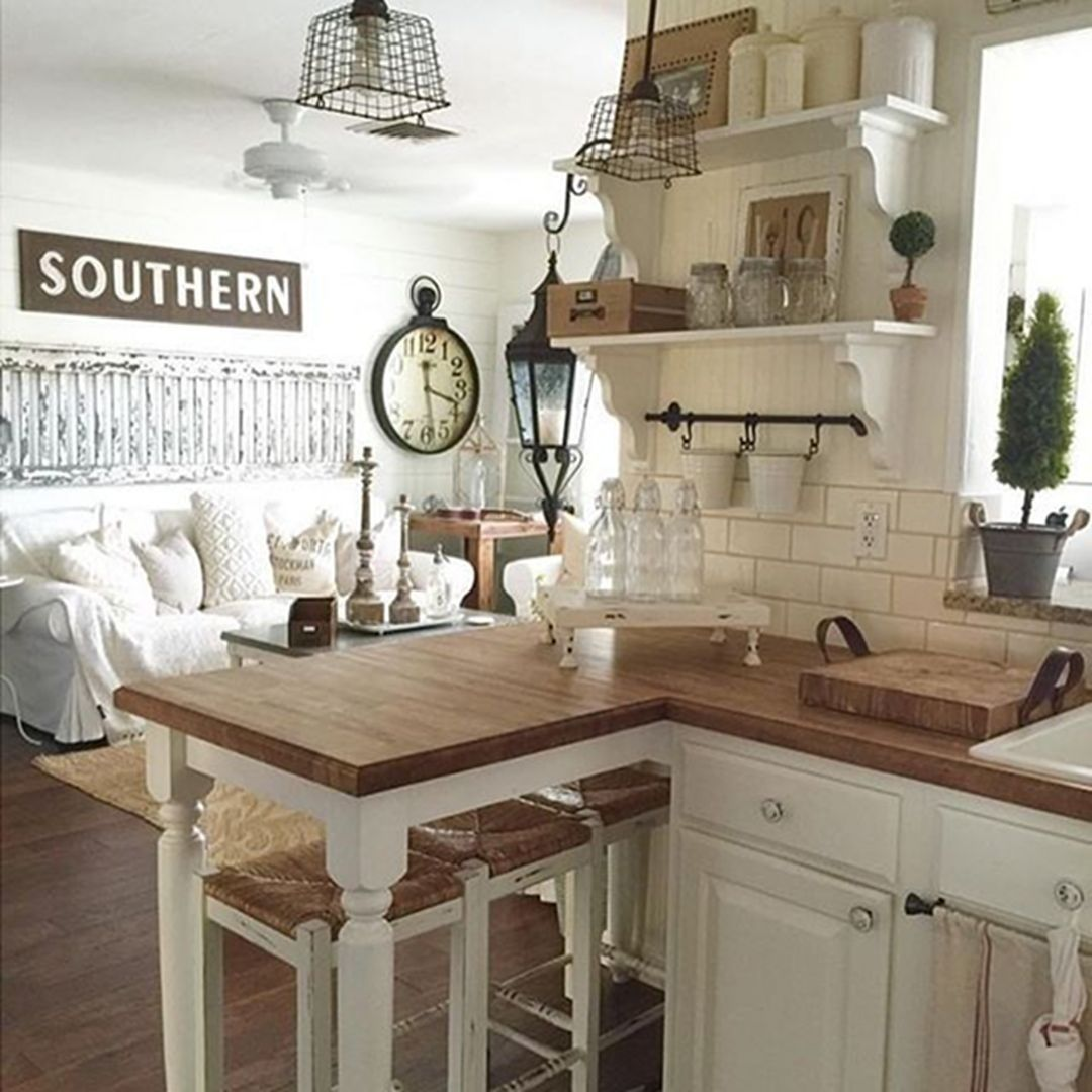 25 Lovely Shabby Chic Kitchen Ideas (Striking Rooms For Cooking) - C078E4352834614642391D136C4A2Ed8
