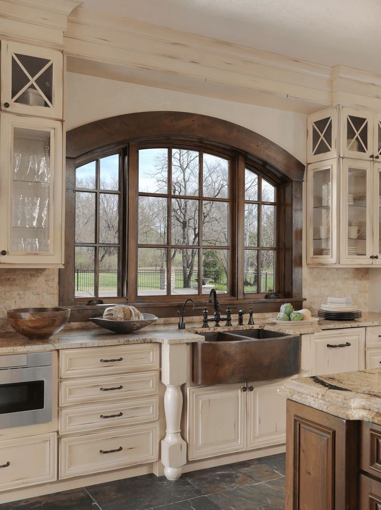 25 Bewildering Farmhouse Kitchen Designs (Traditional Beauties!) - Cca0987489Ce539D832B01876C15B6B5