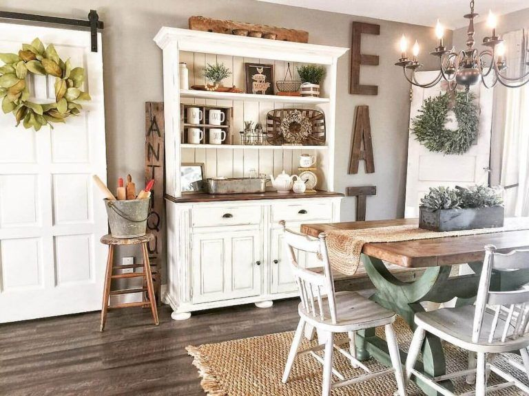 25 Bewildering Farmhouse Kitchen Designs (Traditional Beauties!) - Ea92F84788241984E9381F6B10A3F889