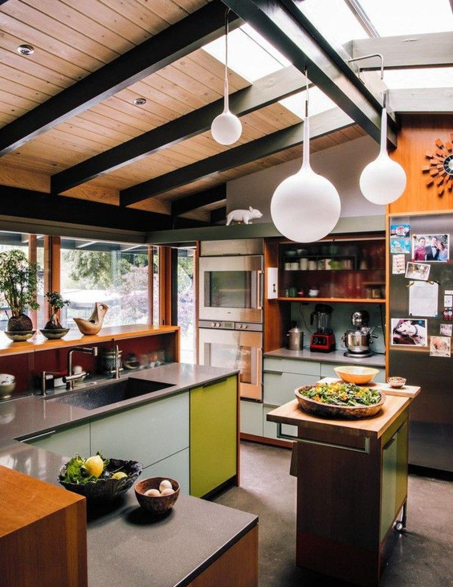 25 Mid Century Modern Kitchen Ideas To Beautify Your Cooking Area - F02E26468B9E1D3F28E04Ba51729Ca91