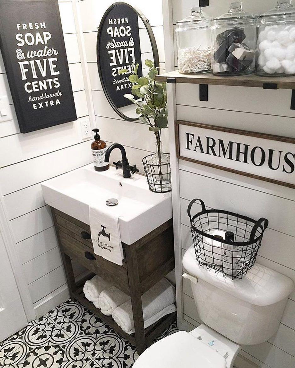 25 Farmhouse Bathroom Ideas For Bathroom Remodel - M16