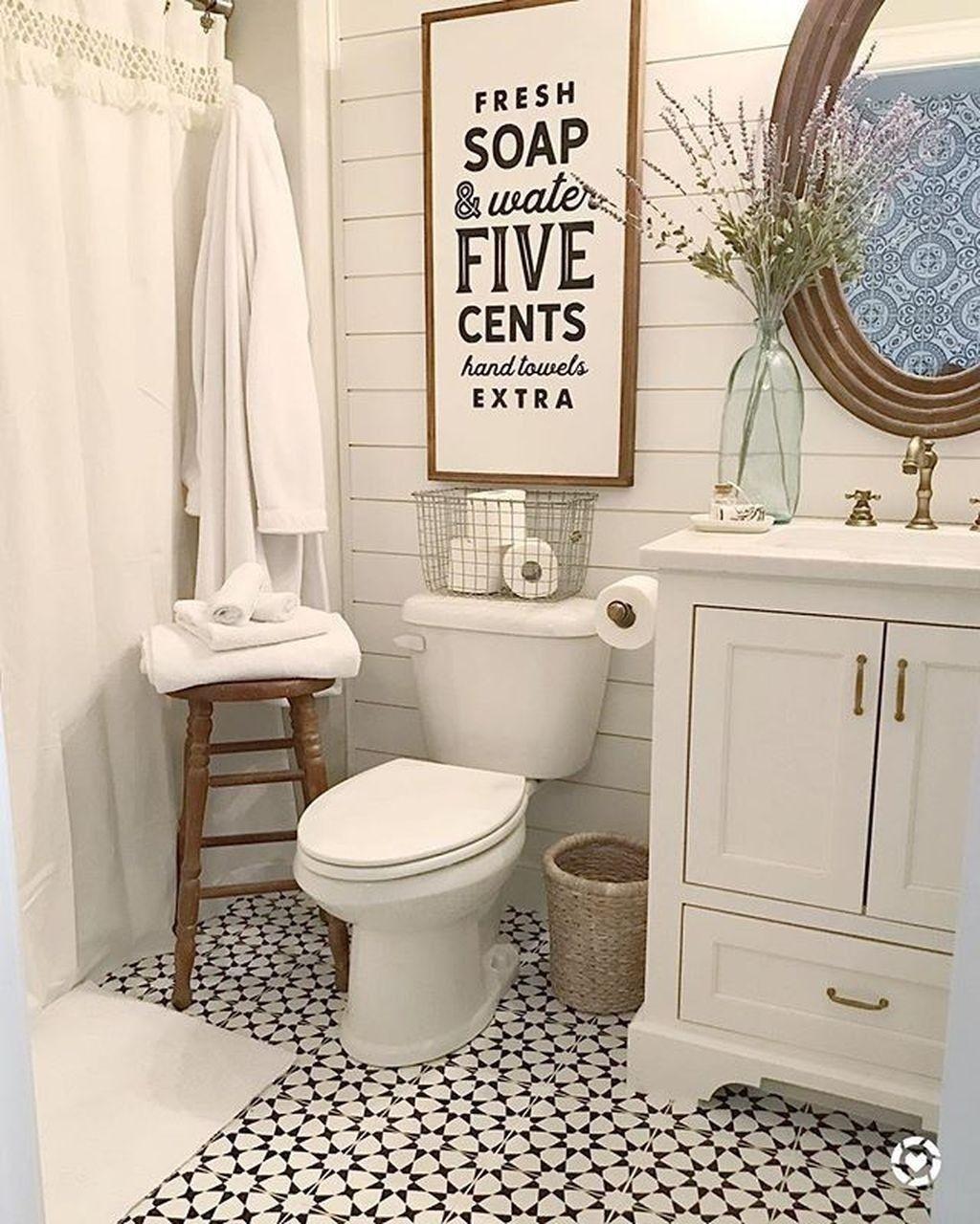25 Farmhouse Bathroom Ideas For Bathroom Remodel - M17
