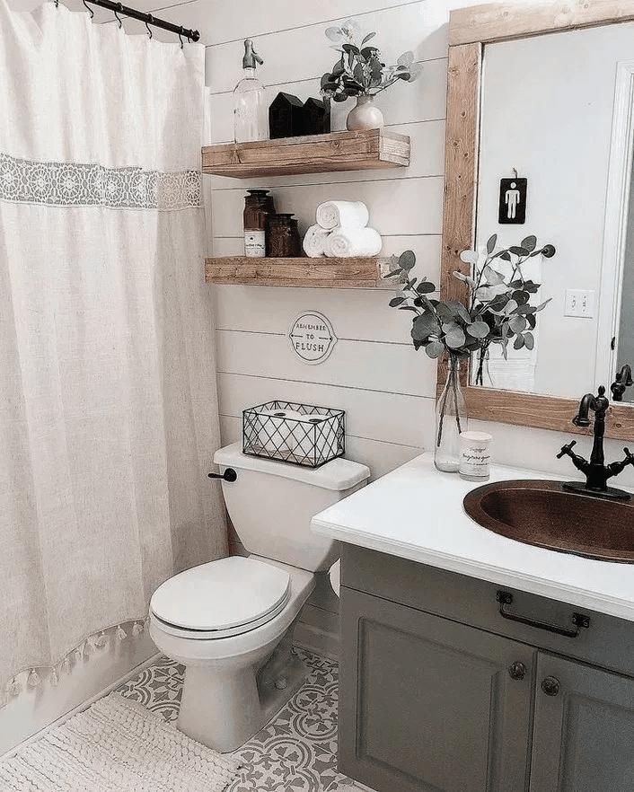 25 Farmhouse Bathroom Ideas For Bathroom Remodel - M3