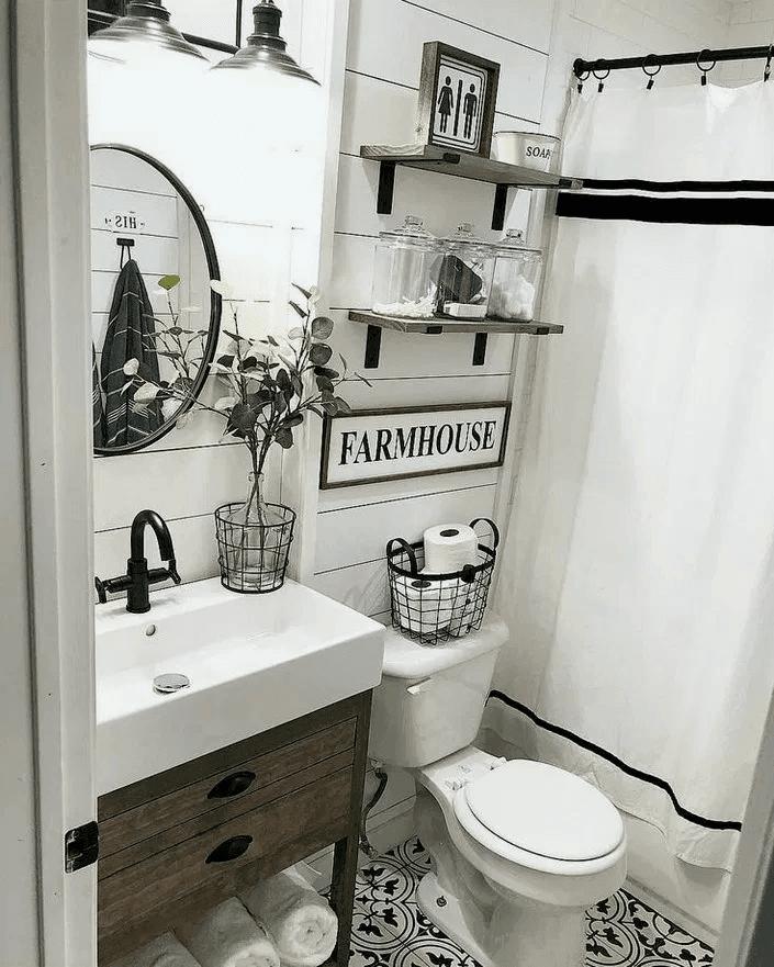 25 Farmhouse Bathroom Ideas For Bathroom Remodel - M5