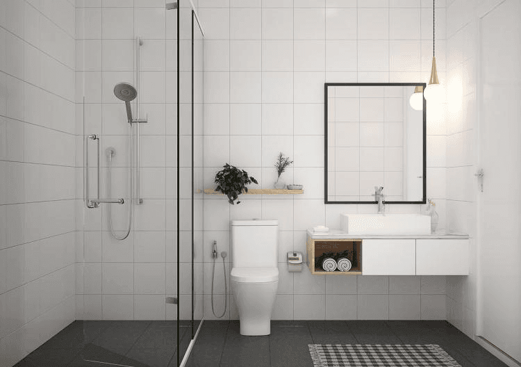 25 Tranquil Scandinavian Bathroom Decor To Get Rid Of Daily Stress - N13