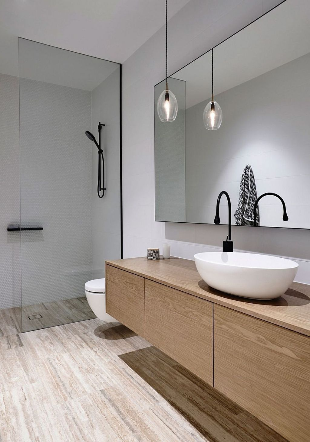 25 Tranquil Scandinavian Bathroom Decor To Get Rid Of Daily Stress - N16