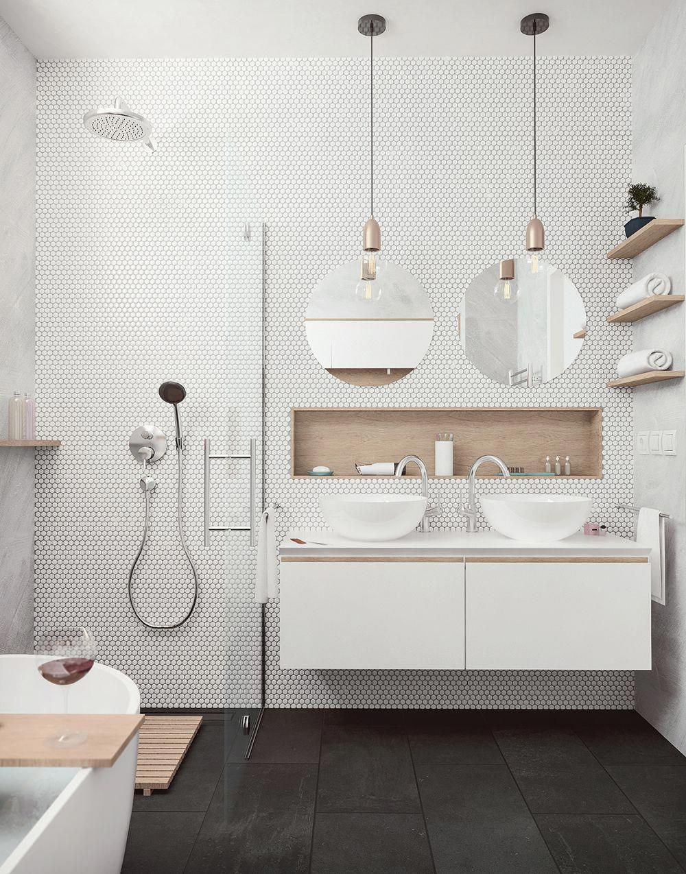 25 Tranquil Scandinavian Bathroom Decor To Get Rid Of Daily Stress - N9