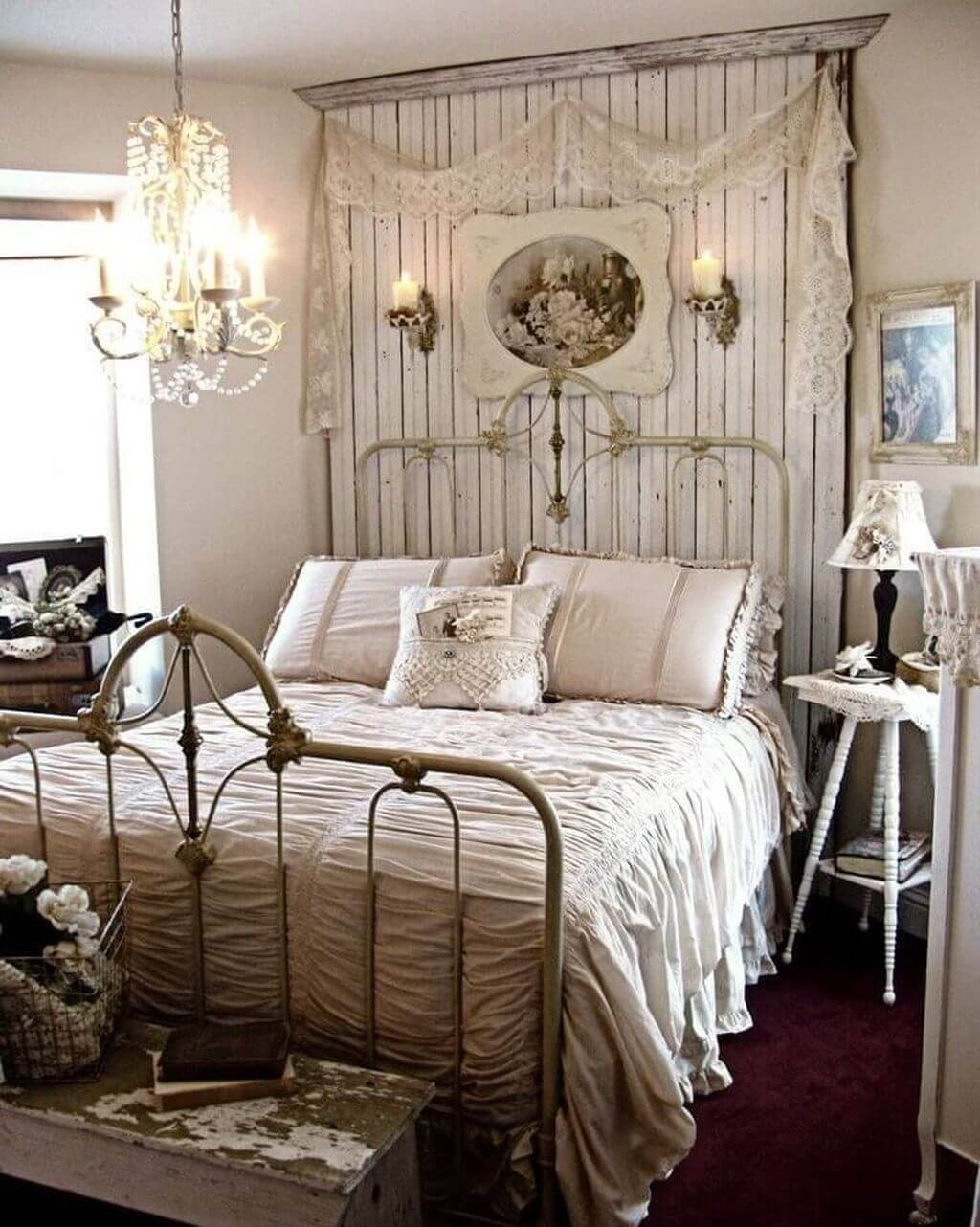 25 Fashionable Shabby Chic Bedroom (All Are Stylish!) - Q11