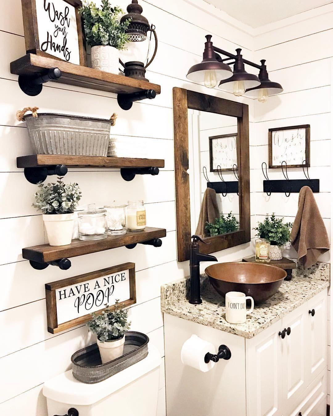 25 Cozy Rustic Bathroom Decor To Guide Your Renovation - W17