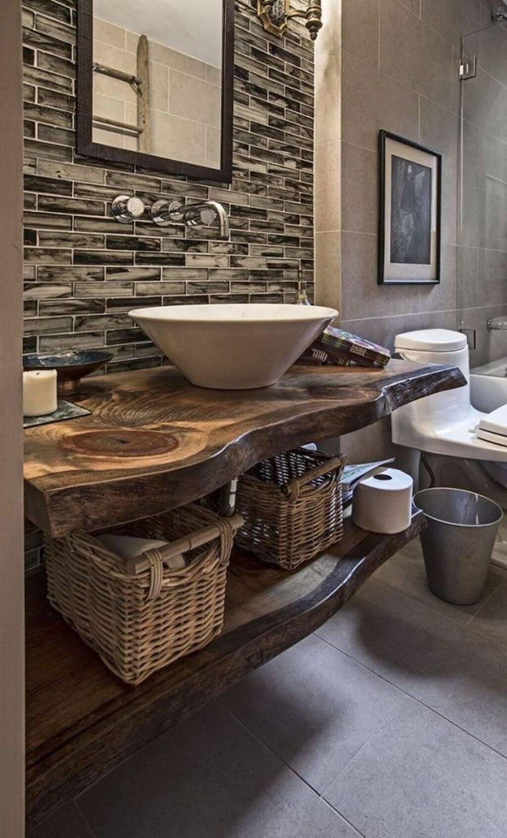 25 Cozy Rustic Bathroom Decor To Guide Your Renovation - W18