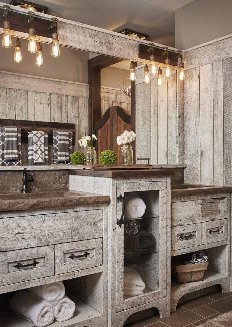 25 Cozy Rustic Bathroom Decor To Guide Your Renovation - W19