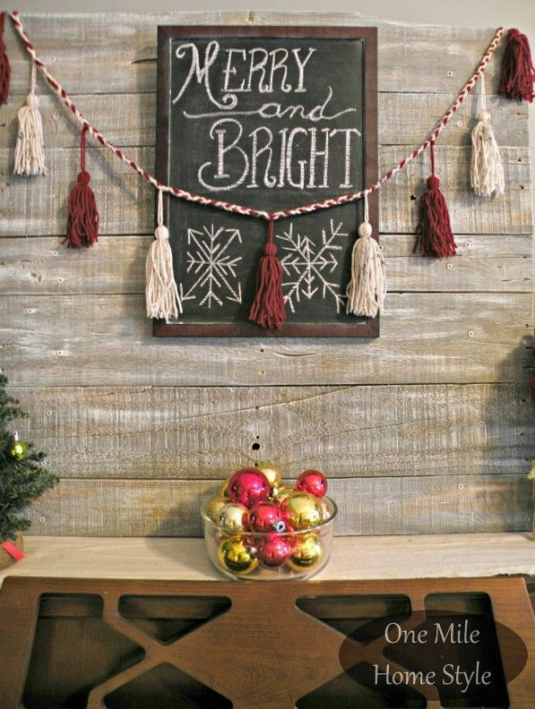 14 Easy &Amp; Creative Diy Tassel Garland Ideas (With Tutorials!) - Diy Christmas Tassel Garland