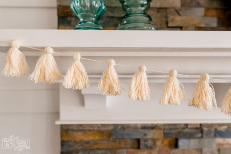 14 Easy &Amp; Creative Diy Tassel Garland Ideas (With Tutorials!) - Diy Tassel Garland From Thrifted Yarn